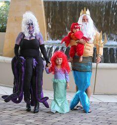 Family costume. adorable. the little mermaid. Ursula. DIY
