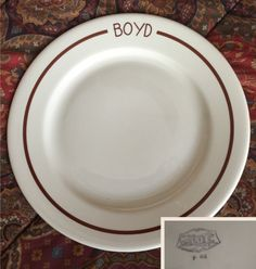 "McNicol roloc china plate 9 3/4"".. BOYD. Date code P 83."