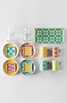 Main Image - Round Porcelain Appetizer Plates (Set of Mason Jar Mugs, Pottery Pots, Ethnic Decor, Appetizer Plates, China Painting, Deco Design, Shabby Vintage, Pattern Mixing, Mugs Set