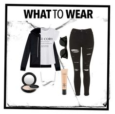 """What to wear#1"" by louise-w-pedersem on Polyvore featuring Splendid, Ally Fashion, Topshop, MAC Cosmetics, Ray-Ban, women's clothing, women's fashion, women, female and woman"