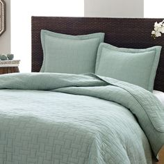 Tommy Bahama Aruba Blue 3-piece Cotton Quilt Set - Overstock™ Shopping - Great Deals on Tommy Bahama Quilts