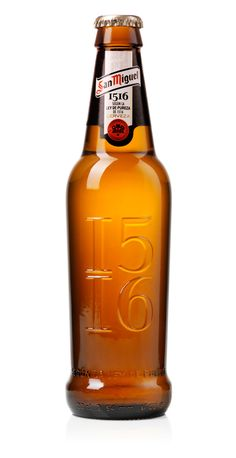 san miguel 1516 (design: Design Bridge)    I was just saying today how amazingly beautiful this bottle is.