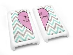 WHITE Friendship Best Friend Cute Chevron Zig Zag Heart Snap-on iPod Touch 4/4G/4th Generation Cover Carrying Case:Amazon:MP3 Players & Accessories