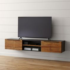 """Rigby Natural 80.5"""" Large Floating Media Console"""