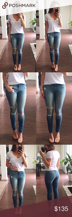 """DL 1961 Jeans Margaux Instasculpt ankle skinny jeans by DL 1961. These are absolutely my favorite jeans, they go with everything and the mid rise length not only tucks in """"everything"""" but it also make the perfect pair for short or cropped tops. The only reason I'm selling these jeans it's because they run a little big and I ended up buying them again a size smaller. This one is a size 25 but in my opinion it fits like a 26. I paid $200 after tax at Bloomingdales. Only worn a few times, like…"""