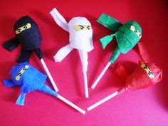 12 Ninjago Lollipop Favor Tootsie Pop Ninja Snacks Edible Ninjago Favor. $24.00 via Etsy.