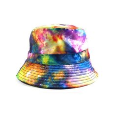 Radisrad Beyond Bucket Hat in Galaxy ($18) ❤ liked on Polyvore featuring men's fashion, men's accessories, men's hats and galaxy