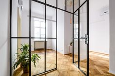 french style interior with modern glass wall, #frenchstyle, #frenchstyleinterior, #loftstylewall, #loftwall, #glasswall