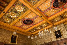 Ornate ceiling at Knightshayes Court | Flickr - Photo Sharing!