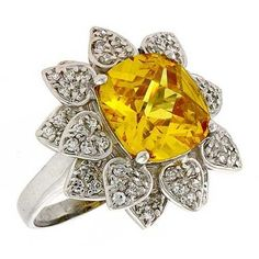 Yellow Topaz is my birthstone for November, & I have found few rings with this stone that I like, til now. Jewelry Box, Jewelery, Yellow Jewelry, My Birthstone, Creative Colour, Love Ring, Topaz Ring, Birthstones, Swarovski