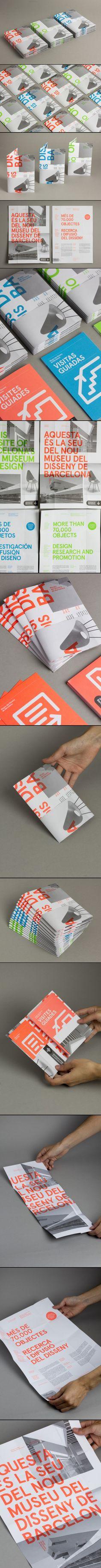 Design Museum of Barcelona Pamphlet Design, Leaflet Design, Booklet Design, Brochure Design, Branding Design, Web Design, Layout Design, Typography Layout, Graphic Design Typography