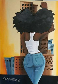 Black Art is Beautiful Black Love Art, Black Girl Art, My Black Is Beautiful, Black Girls Rock, Black Girl Magic, Art Girl, Black Art Painting, Black Artwork, Natural Hair Art