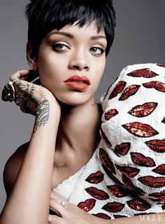 Rihanna Lands Third Vogue Cover for Magazine's March Issue. Photography by David Sims