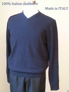 #ebay   sale Mantovani Studio men size M v-neck Italian cashmere sweater navy blue NWT Italy withing our EBAY store at  http://stores.ebay.com/esquirestore