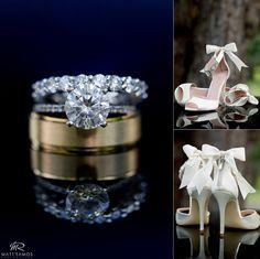 Wedding rings and shoes. © Matt Ramos Photography
