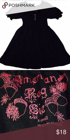 American Rag   Black babydoll top from American Rag  Size Extra Small  As always, all items are from a smoke-free and pet-free home  Thanks for shopping Reclaimed Treasure by Anna Jahns  American Rag Tops