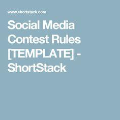 Social Media Contest Rules [TEMPLATE] - ShortStack