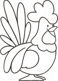 Download and Print preschool farm animal coloring pages a rooster