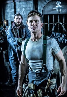 1st look at #Urinetown the Musical at #London's St. James Theatre. Richard Fleeshman (Bobby Strong) & Company Photo: Johan Persson ♡ www.LOVEtheatre.com/tickets/3587/URINETOWN-The-Musical?sid=PIN