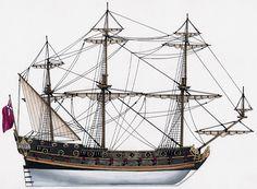 Fregata inglese - 1680