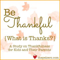 Be Thankful: What is Thanks?