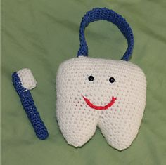 Great for reminding the kids to brush their teeth before bedtime! Or use as a tooth fairy pillow.