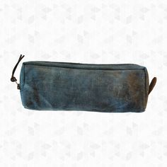 Makers Recycled Canvas Pencil Case. This rustic pencil case is made from recycled heavy duty canvas and features small leather details. By Roost, $18.