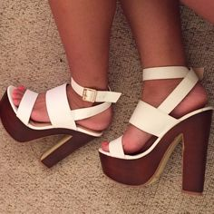 """NWOB Glaze Platform Heels Brand new without box. Never worn. Open toe platform heels with 2 faux leather straps and a wraparound ankle strap with an adjustable buckle. Platform height: 2"""" Heel height: 5.5"""" Slightly padded faux leather insole ❗️NO trades/OBO ❗️ Glaze Shoes Platforms"""