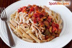 This veggie + chicken + marinara pasta dish is under 180 calories?! Sign me up!