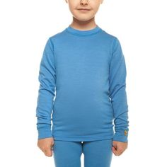 menique Kids Long Sleeve Shirt Thermal Base Layer for Girls /& Boys Merino Wool 250gsm