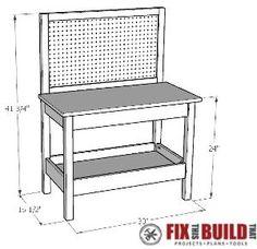 DIY Kids Workbench Plan Pic1                                                                                                                                                                                 More