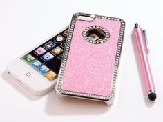 Pandamimi - Deluxe Baby Pink Diamond Rhinestone Glitter Bling Chrome Hard Case Cover for Apple iPhone 5 5G ,Screen Protector and Stylus Pandamimi,http://www.amazon.com/dp/B009IJAWEI/ref=cm_sw_r_pi_dp_Lx.Msb00YVH6MGWV