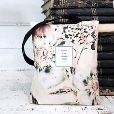 Literary tote bag Lord  Byron Floral tote  by ObviousState on Etsy