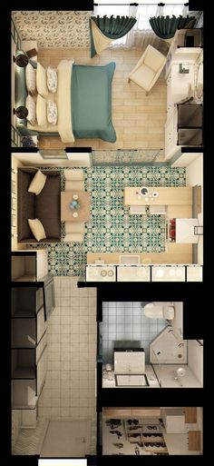 Plan appartement 1 chambre