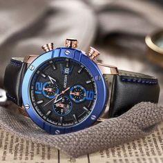 0da6946859e Megir Men Relogio Masculino Top Brand Luxury Leather Military Watch