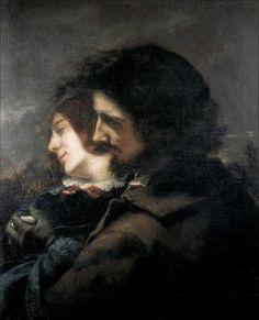 Gustave Courbet · Autoritratto ( amanti in campagna ) · 1844 · Musée des Beaux-Arts · Lyon