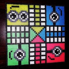 Minion ludo board game hama beads by annekboe