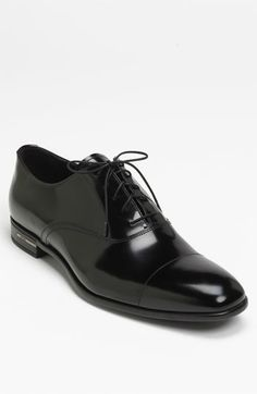 Prada Cap Toe Oxford  05595cb63a97