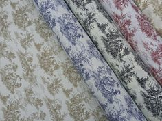 French Toile de Jouy 100% Cotton fabric Upholstery designer curtains cushions furnishing roman blinds vintage fabric - Sold By The Metre