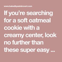 If you're searching for a soft oatmeal cookie with a creamy center, look no further than these super easy oatmeal cream pies. Soft Oatmeal Cookies, Oatmeal Cream Pies, Cookie Pie, No Bake Pies, Homemade Cookies, Super Easy, Searching, Snacks, Baking