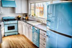 Retro Kühlschrank Diy : Küchenzeile cm aubergine akazie mit schwarzem retro