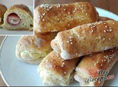Nejlepší recepty na domácí rohlíky | NejRecept.cz Hot Dog Buns, Hot Dogs, Bagel, Nutella, Hamburger, Pizza, Menu, Bread, Food
