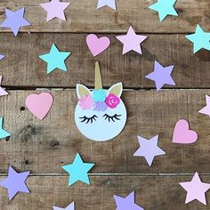 Haciendo pruebas porque hija también quiere cumpleaños de  #paperdecor #papercraft #papercutting #unicornlovers #unicorn #unicornparty #unicornpartyideas #happybirthday