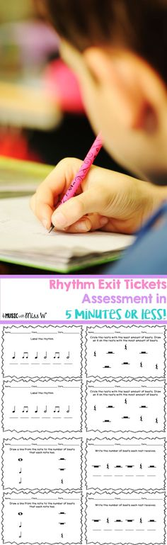 Assess rhythm in 5 minutes or less! These exit tickets allow me to take a quick grade and see how my music students are progressing.