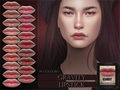 Gravity Lipstick Found in TSR Category 'Sims 4 Female Lipstick' Sims 4 Cc Skin, Sims 4 Mm Cc, Sims Four, My Sims, Mod Makeup, Sims 4 Cc Makeup, The Sims 4 Packs, Sims 4 Children, The Sims 4 Download