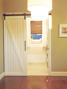 Barn Door - Inside the homes. Bathroom or closet