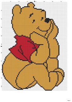 Dibujos Punto de Cruz Gratis: Winnie The Pooh
