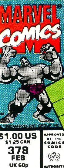 Marvel corner box art - Gray Hulk