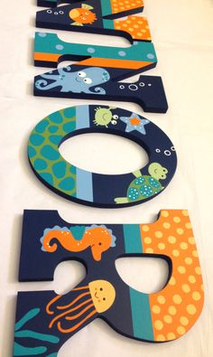 Personalized Wooden Wall Letters for Kids' Rooms by AllysCustomArt, $13.00