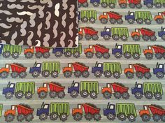 Large Baby Blanket, Receiving Blanket, Trucks, Dump Trucks, Mustache, Grey, White, Red, Swaddle, Reversible, Baby Shower Gift, Baby Boy by QuinnsBin on Etsy https://www.etsy.com/listing/267585946/large-baby-blanket-receiving-blanket